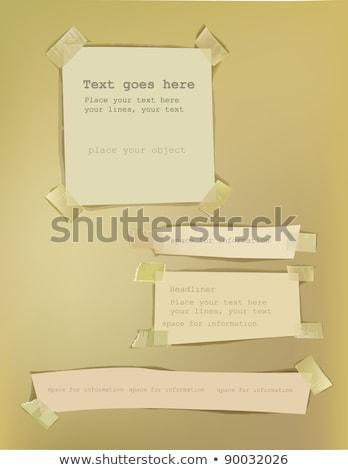 Gescheurd papier lijm spray geschilderd verweerde Stockfoto © sirylok
