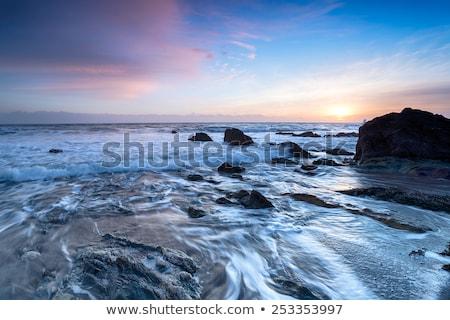 Rocky Sea Landscape at beautiful sundown Stock photo © Taiga