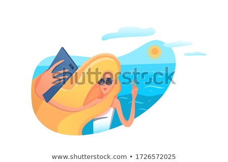 A summer artwork showing a vacation trip Stock photo © bluering