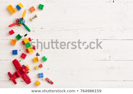 Ahşap masa çocuklar oynamak oyun alanı çocuklar oyuncaklar Stok fotoğraf © saharosa