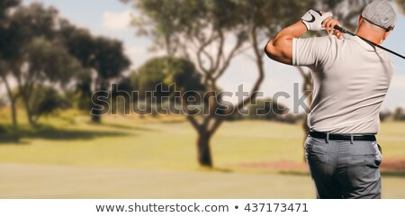 Composite image of sportsman is playing golf stock photo © wavebreak_media