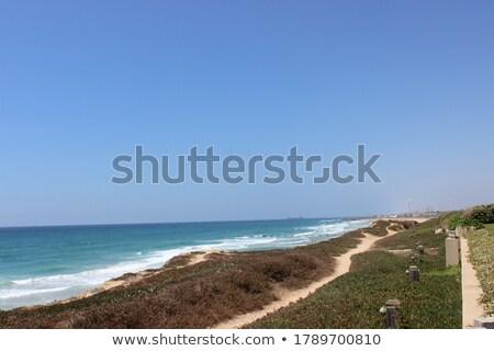 Festői kilátás védtelen tengeri kilátás szirt tenger Stock fotó © asturianu
