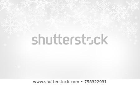 Fényes fehér hópehely kék absztrakt jég Stock fotó © zven0