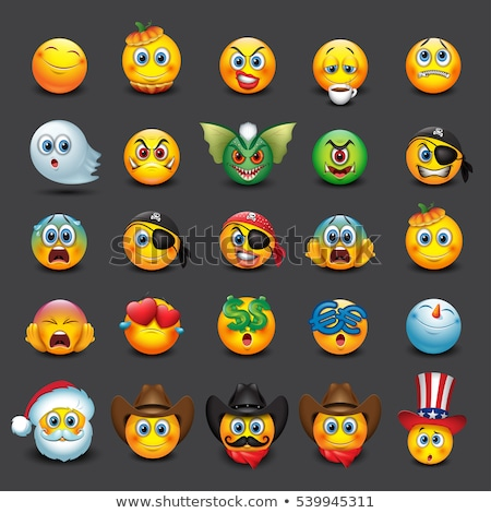 halloween pumpkin emoji emoticons stock photo © vectorikart