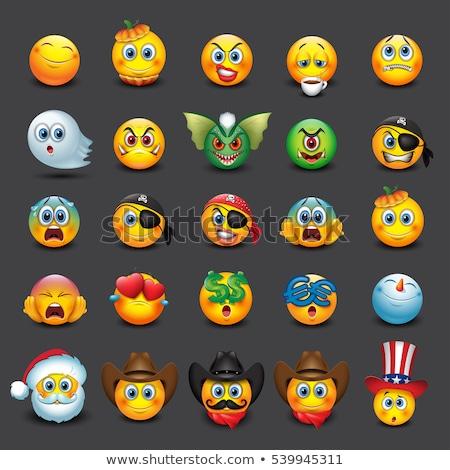 Halloween pumpkin emoji emoticons Stock photo © vectorikart