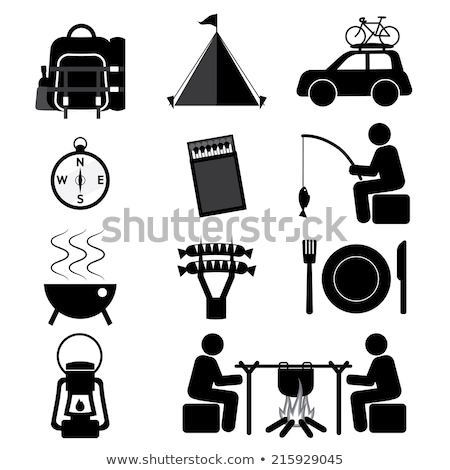 Light fishing rod icons Stock photo © Yuriy