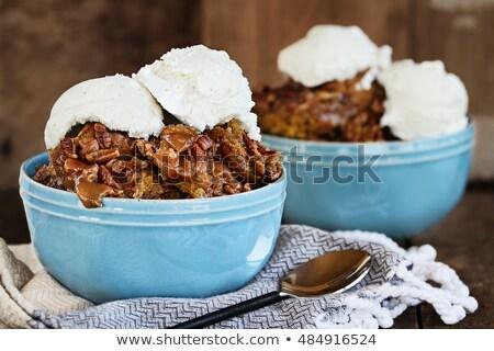Pumpkin Lava Cake Cobbler and Ice Cream Stock photo © StephanieFrey
