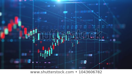 Stock exchange graph screen background  Stock photo © klss