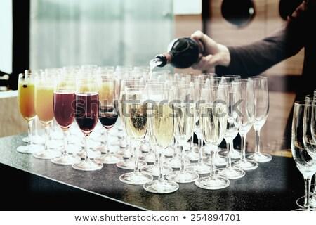 Willkommen trinken Jahrgang filtern Menü Strand Stock foto © bank215