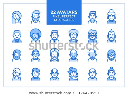Foto stock: Man Hipster Avatar User Picture Cartoon Character