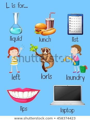 Alfabet hand kinderen kind achtergrond kunst Stockfoto © bluering
