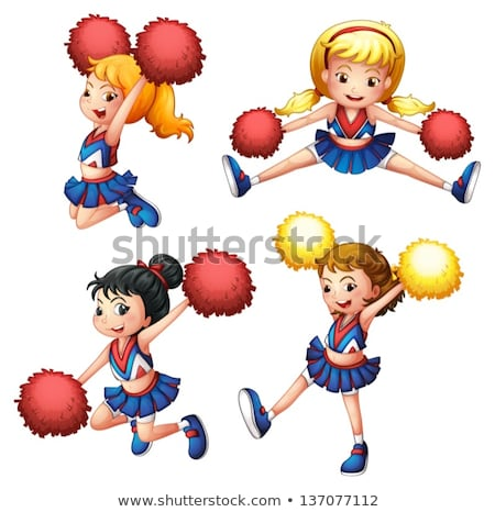 An energetic cheerdancer Stock photo © bluering