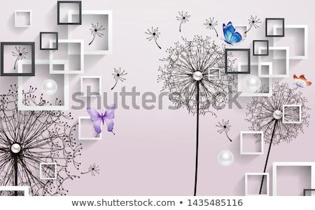白 長方形の フレーム 木材 画像フレーム ストックフォト © goir