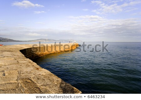The Cobb harbour wall at Lyme Regis,Dorset Stock photo © CaptureLight