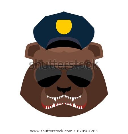 policji · głowie · zły · odizolowany · poważny - zdjęcia stock © popaukropa