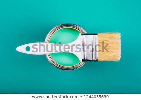 緑 塗料 錫 することができます ブラシ 先頭 ストックフォト © janssenkruseproducti