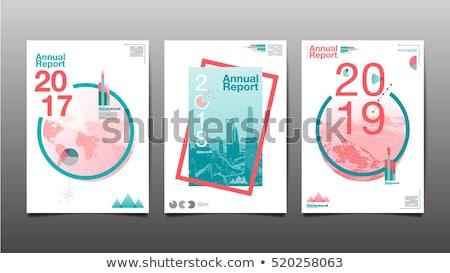 negocios · folleto · folleto · plantilla · diseno · azul - foto stock © SArts