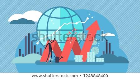 Negocios economía mujer de negocios comercialización femenino financieros Foto stock © stevanovicigor