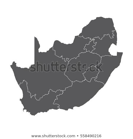 南アフリカ ベクトル 地図 抽象的な 背景 文化 ストックフォト © nezezon