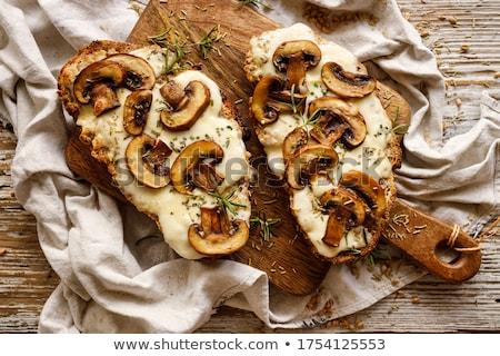 сыра тоста небольшой Ломтики поджаренный багет Сток-фото © Digifoodstock