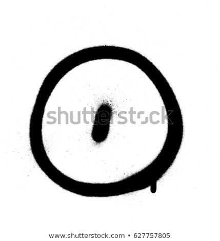 graffiti Bubble Font number 0 in black on white Stock photo © Melvin07