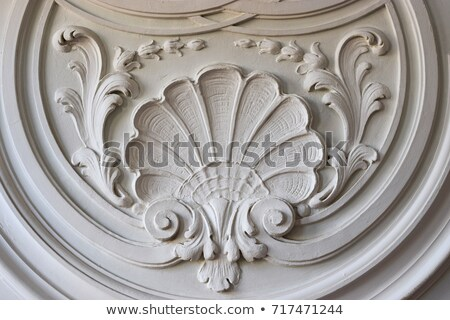Barroco estuco escultura espiral primer plano tradicional Foto stock © martin33