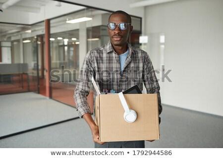 Sorridere imprenditore lavoro vettore Foto d'archivio © curiosity