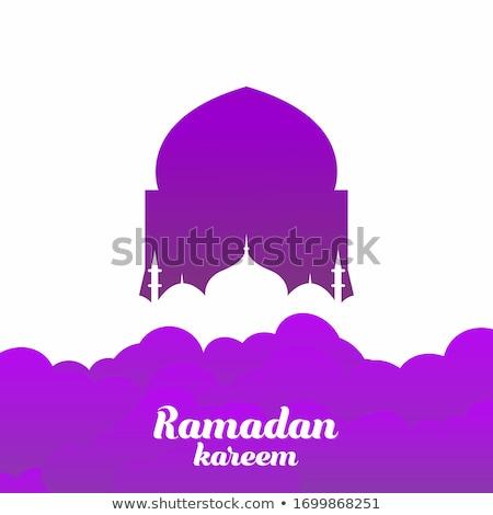Ramadán üdvözlőlap arab éjszaka félhold tevék Stock fotó © Leo_Edition
