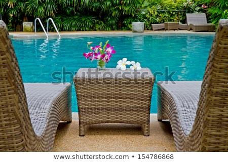 花 プール サイド スイミングプール 水 美 ストックフォト © tang90246