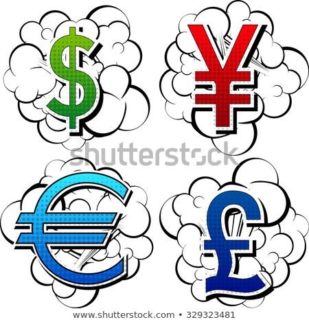 Stockfoto: Sale Word Dollar Euro Pound Letters