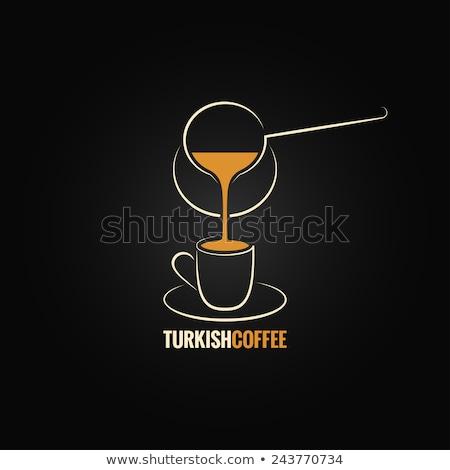 koffie · metaal · teken · vintage · stijl · tin - stockfoto © rastudio