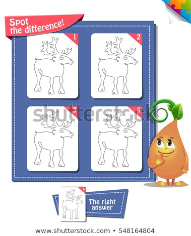 spot the difference deer line circuit stock photo © olena