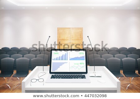 Business Education on Laptop in Conference Hall. 3D Stock photo © tashatuvango