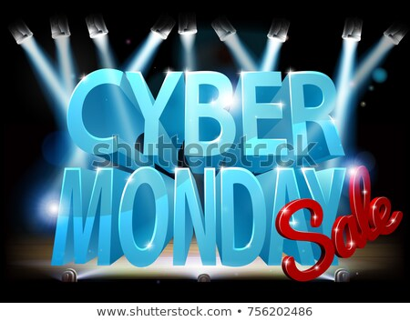 Cyber Monday Stage Sale Sign Stock photo © Krisdog