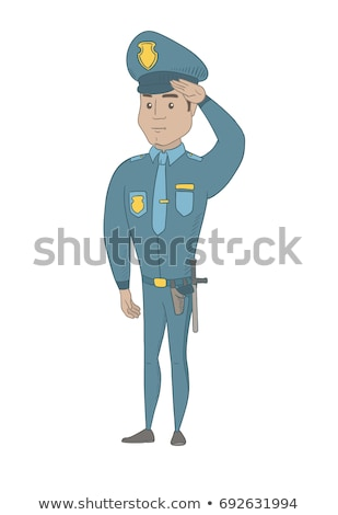 Młodych hiszpańskie komisarz uniform poważny Zdjęcia stock © RAStudio