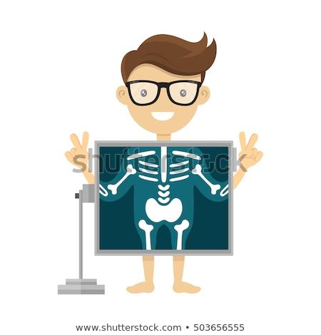 Beteg röntgen eljárás férfi képernyő mutat Stock fotó © RAStudio
