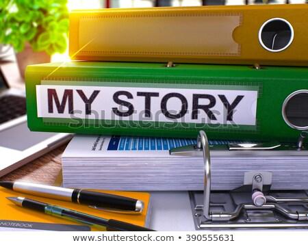 My Story on Binder. Toned Image. Stock photo © tashatuvango