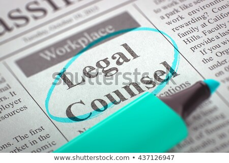 Juridiques Emploi faible recherche d'emploi Photo stock © tashatuvango