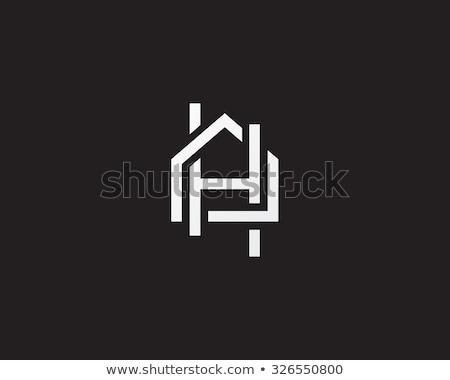 levél · ház · logo · szimbólum · lakás · lakásügy - stock fotó © meisuseno