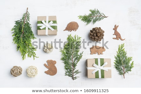 christmas decoration amongst branches Stock photo © IS2