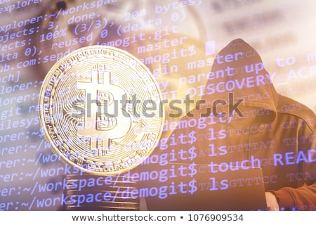 Komputera hacker bitcoin technologii monetarny działalności Zdjęcia stock © stevanovicigor