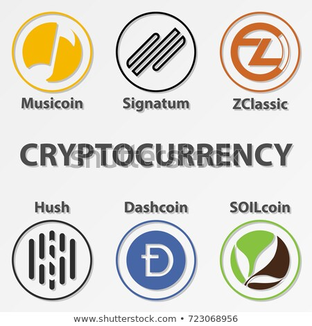 hush cryptocurrency   vector colored logo stock photo © tashatuvango