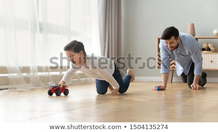Father chasing young son Stock photo © IS2