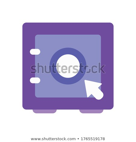 Electronic strongbox icon in flat style Stock photo © studioworkstock