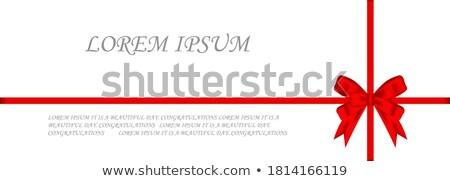 Gerçekçi kırmızı zarif şerit yalıtılmış ikon Stok fotoğraf © studioworkstock