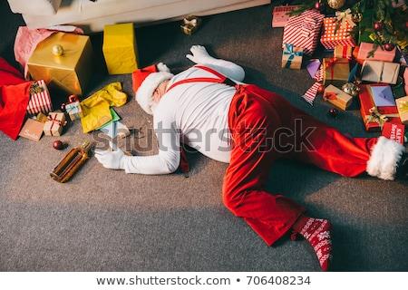 Slechte vieren home christmas alleen Stockfoto © stokkete