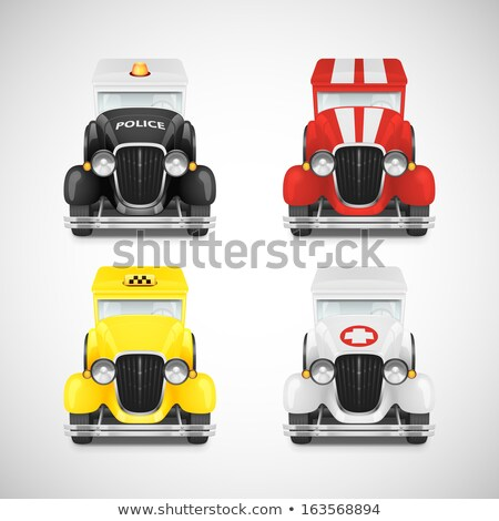 Ambulance 3D glanzend vector icon ontwerp Stockfoto © rizwanali3d