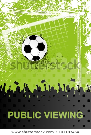 soccer poster with public viewing Stock photo © djdarkflower