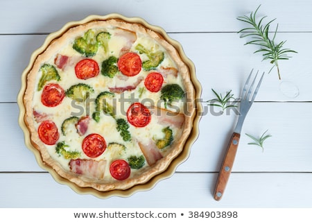 broccoli · champignon · vers · ingrediënten · ei · kaas - stockfoto © m-studio