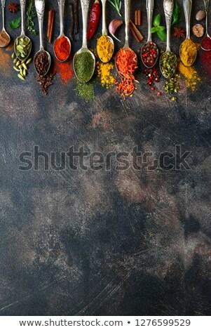 temperos · alho · fresco · salsa · folhas · cerâmico - foto stock © lana_m